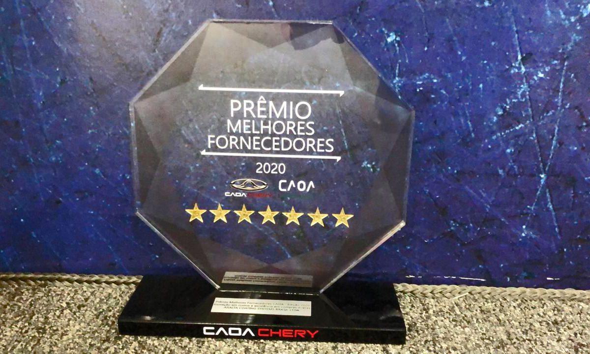 Axalta recebe o prêmio da CAOA Chery de melhor fornecedor em Inovação e Compra Direta
